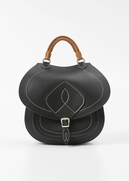 Maison Margiela black calf leather shoulder bag