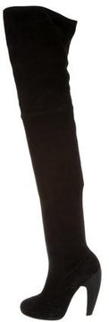 Alaia Suede Over-The-Knee Boots