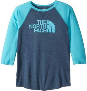 The North Face Kids Tri-Blend 3/4 Sleeve Tee Girl's Clothing