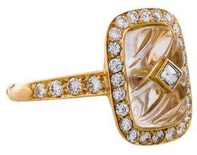 Boucheron 18K Diamond & Quartz Cocktail Ring