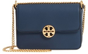 Tory Burch Mini Chelsea Leather Convertible Crossbody Bag - Blue