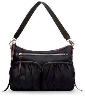 MZ Wallace 'Hayley' Bedford Nylon Handbag - Black