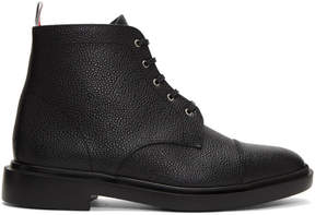 Thom Browne Black Cropped Derby Boots