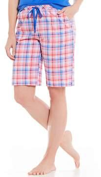 Karen Neuburger Plaid Bermuda Sleep Shorts