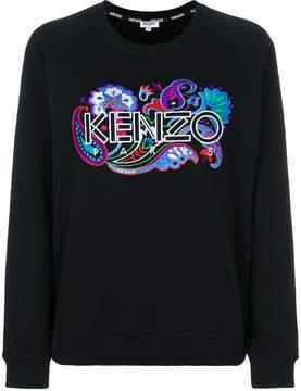 Kenzo branded patch sweatshirt