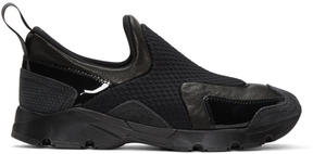 MM6 MAISON MARGIELA Black Panelled Slip-On Sneakers