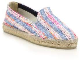 Manebi Ibiza Tweed & Denim Stripe Espadrille Flats