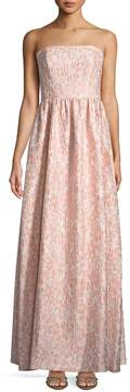 Shoshanna Lulu Strapless Floral Jacquard Gown