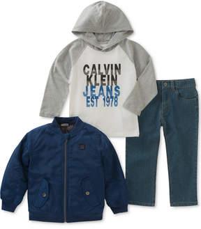 Calvin Klein 3-Pc. Jacket, Hoodie & Jeans Set, Baby Boys (0-24 months)