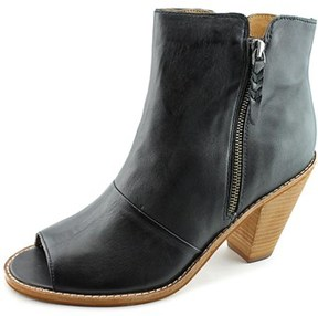 Corso Como Tameka Women Peep-toe Leather Black Ankle Boot.