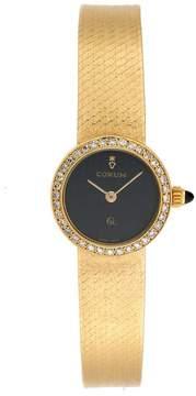 Corum 31823B10 18K Yellow Gold Diamond Vintage Quartz 21mm Womens Dress Watch