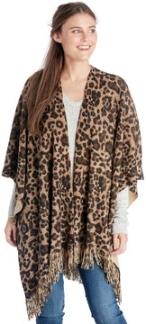 Sole Society Leopard Wrap with Fringe