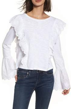 BP Eyelet Trim Long Sleeve Tee