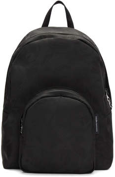 Alexander McQueen Black Small Jacquard Backpack