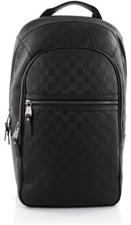 Louis Vuitton Pre-owned: Michael Nm Backpack Damier Infini Leather. - BLACK - STYLE