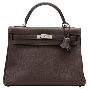 Hermes Kelly leather tote - BROWN - STYLE