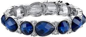 1928 Blue Round & Teardrop Station Stretch Bracelet
