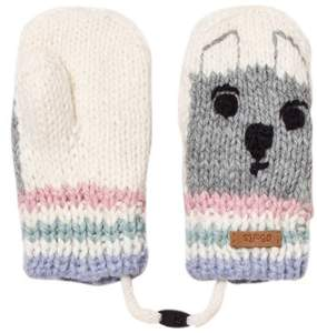 Barts White Bear Bouly Mittens