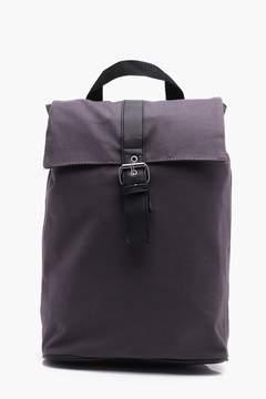 boohoo Grey Roll Top Backpack