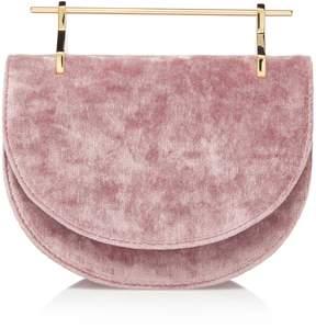 M2Malletier Velvet Mini Half Moon Bag
