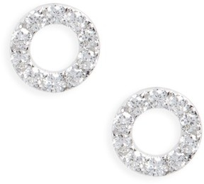 Bony Levy Women's Simple Obsessions Geo Circle Diamond Stud Earrings (Nordstrom Exclusive)