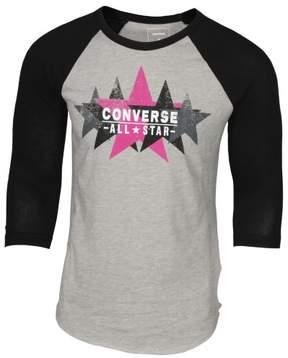 Converse Men's Archive Box Star Raglan T-Shirt-Gray-Small