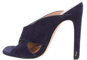 Halston Suede Slide Sandals