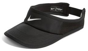 Nike Women's Court Aerobill Tennis Visor - Black