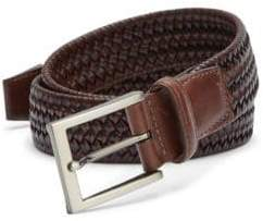 Saks Fifth Avenue COLLECTION Braided Leather Blend Belt