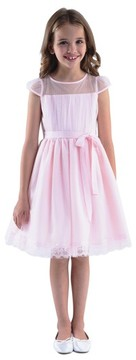 Us Angels Girl's Point D'Esprit Dress