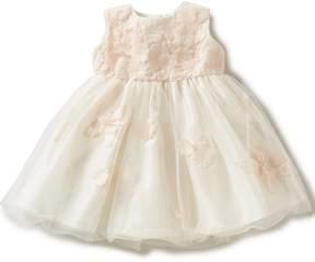 Joan Calabrese Baby Girls 6-24 Months Taffeta Floral-Appliqu Dress