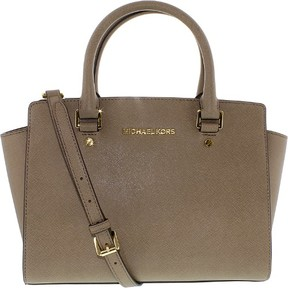 MICHAEL Michael Kors Selma Medium Satchel - DARK DUNE/GOLD - STYLE