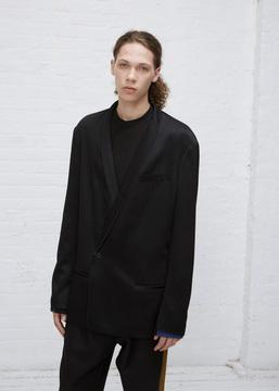 Haider Ackermann Black / Ivory Oversized Blazer