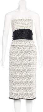 Luisa Beccaria Strapless Lace Dress