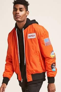 21men 21 MEN NASA Patched Bomber Jacket