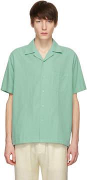 Cmmn Swdn Green Duncan Open Collar Shirt