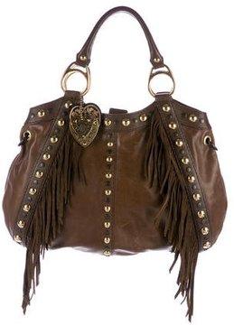 Gucci Babouska Fringe Bag - BROWN - STYLE