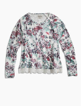 Lucky Brand FLORAL PRINTED POPOVER