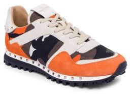 Valentino Men's Camouflage Platinum Sneakers
