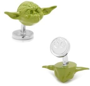 Cufflinks Inc. Men's Cufflinks, Inc. Star Wars(TM) Yoda 3D Cuff Links