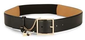 MICHAEL Michael Kors Lock Key Leather Belt