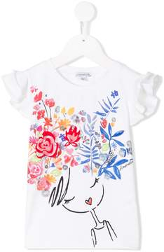 Simonetta floral printed jersey top