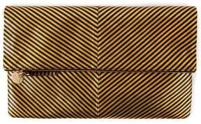 Clare Vivier Disco Stripe Foldover Clutch