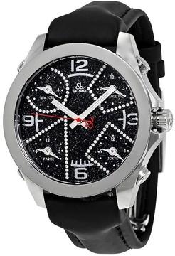 Jacob & co Jacob and Co. Five Time Zone Black Dial Diamond Men's Watch