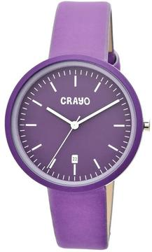 Crayo Easy Collection CRACR2409 Unisex Watch with Leather Strap