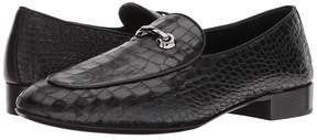 Giuseppe Zanotti Cut Stamped Croc Loafer Men's Slip on Shoes