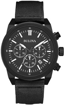 Bulova Men's Chronograph Watch & Interchangeable Band Set - 98B280