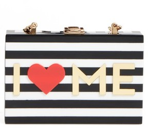 Milly I Heart Me Box Clutch - Black