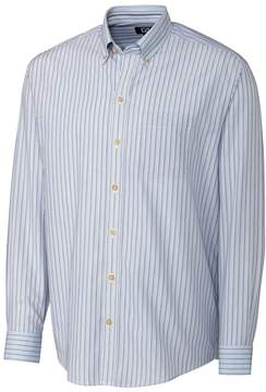 Cutter & Buck Blue & Gray Stripe Cypress Button-Up - Men