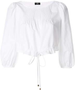 Elisabetta Franchi drawstring waist blouse